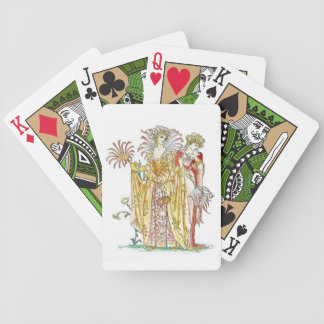 Vintage Tigerlily Lady Goddess Playing Cards