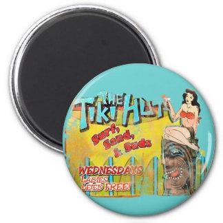 Vintage Tiki Hut Funny Magnet