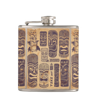 Vintage Tiki Set Hip Flask