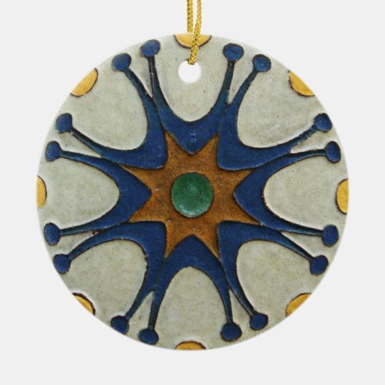 Vintage Tile Ceramic Ornament