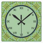 vintage tile clock