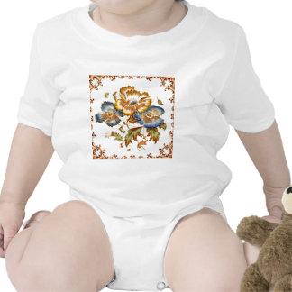 Vintage Tile Design Arts and Crafts Art Nouveau Baby Creeper