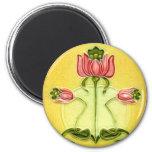 Vintage Tile Designs Arts and Crafts Art Nouveau 2 Inch Round Magnet