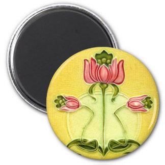 Vintage Tile Designs Arts and Crafts Art Nouveau Magnet