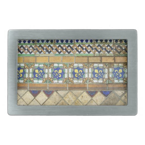 Vintage Tile Rectangular Belt Buckles