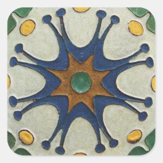 Vintage Tile Square Sticker