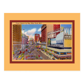 Vintage Times Square by Day New York Postcard