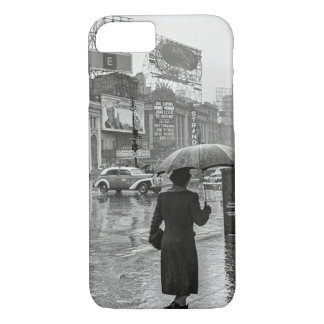 Vintage Times Square NYC Rainy Day iPhone 7 Case