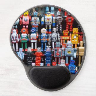Vintage tin iron robot collection Gel Mousepad