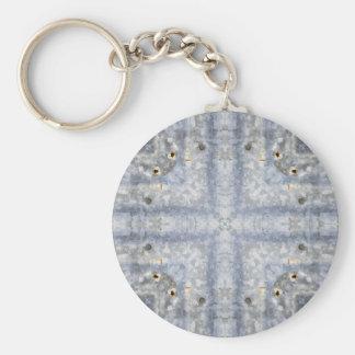 Vintage Tin Roof Kaleidoscope Pattern Keychain