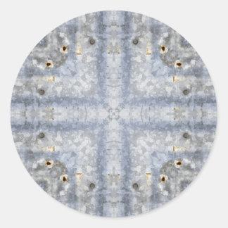 Vintage Tin Roof Kaleidoscope Pattern Classic Round Sticker