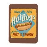 Vintage tin sign - Hot Dogs Rectangular Photo Magnet