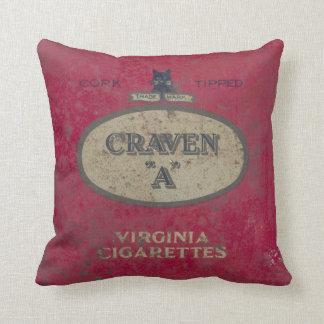 Vintage tin throw pillow