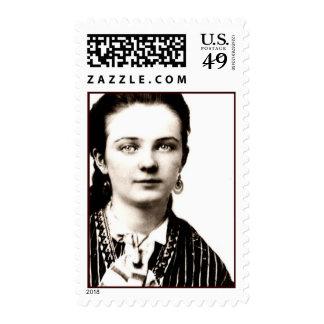 Vintage Tin Type Postage Stamp