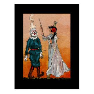 Vintage Tin Woodman Image of Scarecrow Postcard