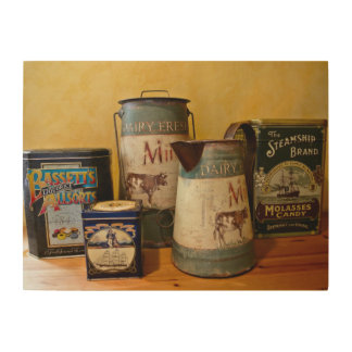 Vintage Tins and Jugs Wood Wall Decor