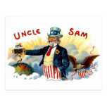 Vintage tío Sam caja de cigarros etiqueta 4 de Postal