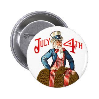 Vintage tío Sam Eagle 4 de julio Pin