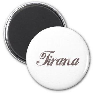 Vintage Tirana 2 Inch Round Magnet