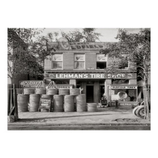 Vintage Tire Shop Poster