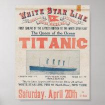 Vintage Titanic Travel Poster