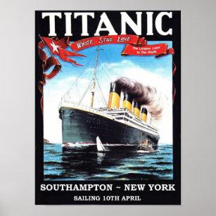 Titanic Maiden Voyage Posters & Prints | Zazzle