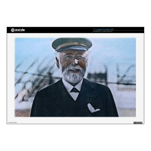 Vintage titánico de capitán Edward Smith del RMS Skins Para 43,2cm Portátiles