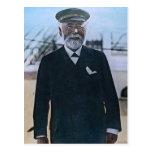 Vintage titánico de capitán Edward Smith del RMS Postal