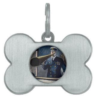 Vintage titánico de capitán Edward Smith RMS Placa Mascota