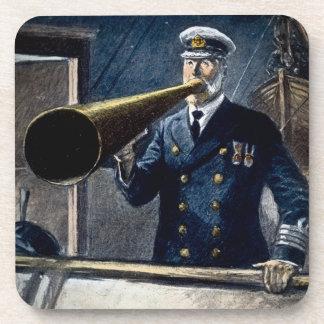 Vintage titánico de capitán Edward Smith RMS Posavasos De Bebida