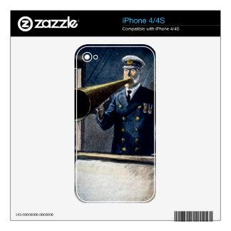Vintage titánico de capitán Edward Smith RMS Skins Para eliPhone 4S