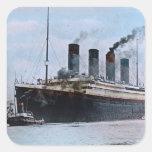 Vintage titánico del RMS Belfast Irlanda Pegatina Cuadrada