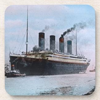 Vintage titánico del RMS Belfast Irlanda Posavasos