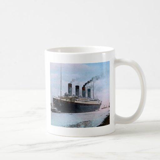 Vintage titánico del RMS Belfast Irlanda Tazas