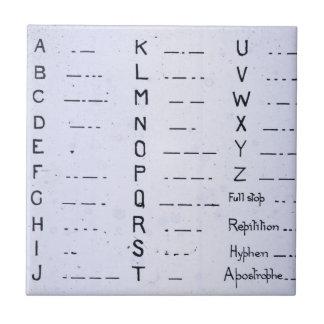 Vintage titánico S.O.S. del código Morse del RMS Azulejo Cuadrado Pequeño