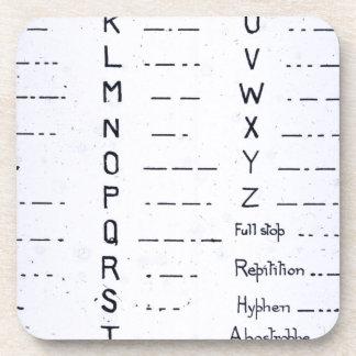 Vintage titánico S O S del código Morse del RMS Posavasos