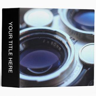 Vintage TLR Camera 3 Ring Binder