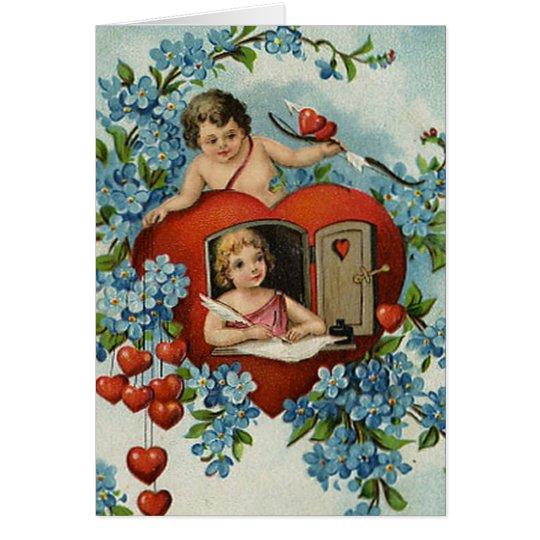 Vintage To My Valentine Card