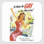 """Vintage """"To Wake Up Gay"""" Stickers"""