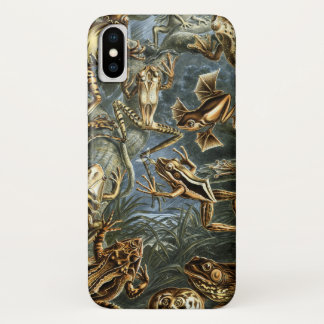 Vintage Toads and Frogs Batrachia by Ernst Haeckel iPhone X Case