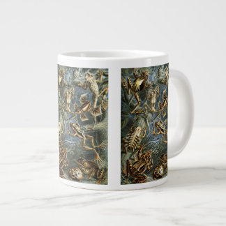 Vintage Toads and Frogs Batrachia by Ernst Haeckel Large Coffee Mug