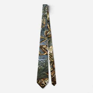 Vintage Toads and Frogs Batrachia by Ernst Haeckel Tie