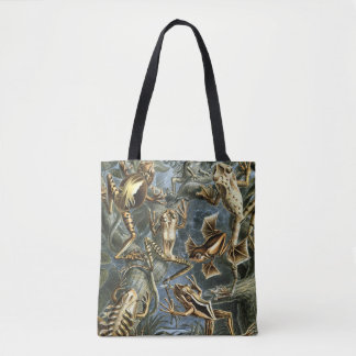 Vintage Toads and Frogs Batrachia by Ernst Haeckel Tote Bag