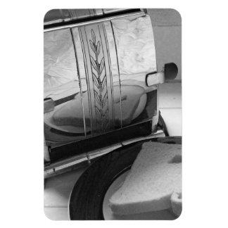 Vintage Toaster Black White Photo Fridge Magnet