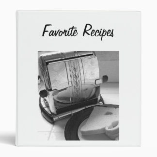 Vintage Toaster Kitchen Art Recipe Binder