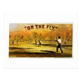 """Vintage Tobacco Ad """"On The Fly"""" 1867 Postcard"""