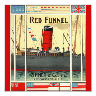 Vintage Tobacco Ad Red Funnel Ship Card