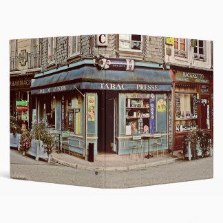 Vintage tobacco and wine shop in France 3 Ring Binder