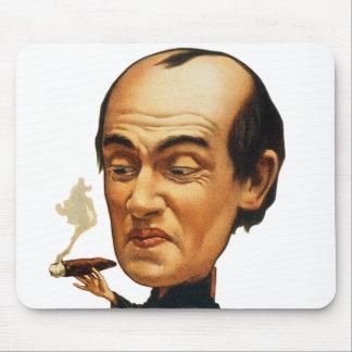 Vintage Tobacco Cigar Smoking Big Headed Man Mouse Pad