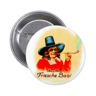 Vintage Tobacco Dutch Smoking Pipe Friesche Baai 2 Inch Round Button